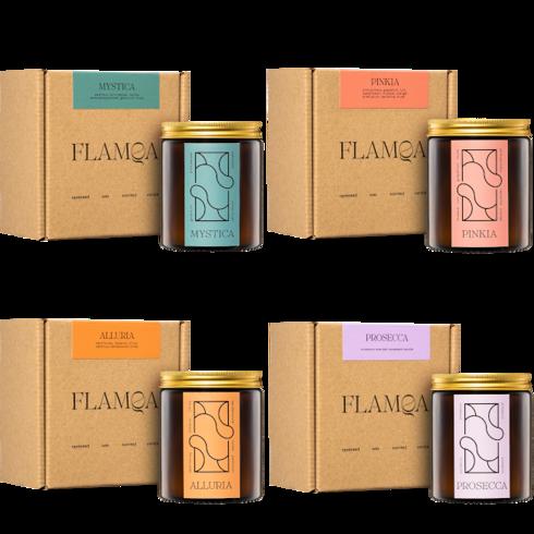 Zestaw 4 świec zapachowych FLAMQA